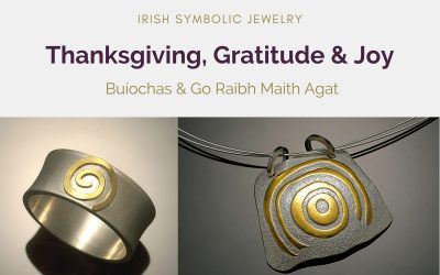 Irish Symbolic Jewelry For Thanksgiving, Gratitude And Joy